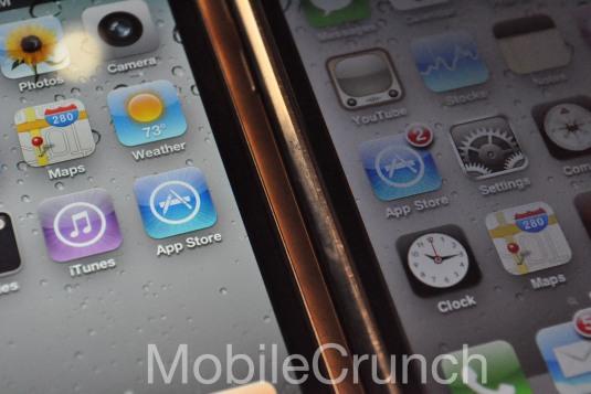 Pantalla del iPhone 4 comparada con la del iPhone 3GS